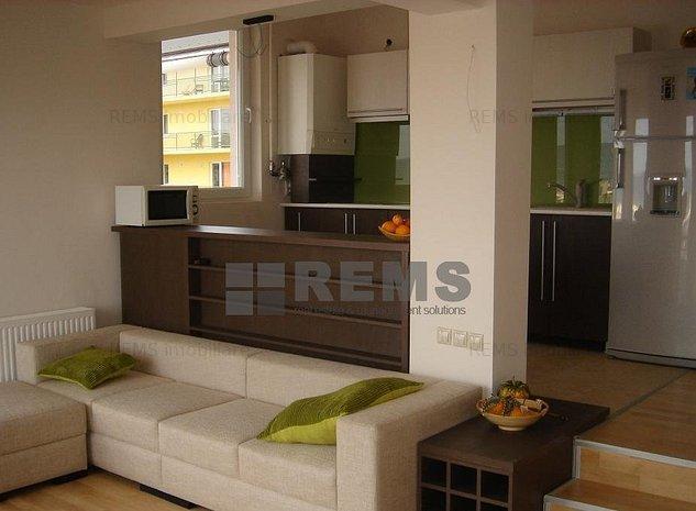 Apartament cu 3 camere, semidecomandat, mobilat modern - imaginea 1