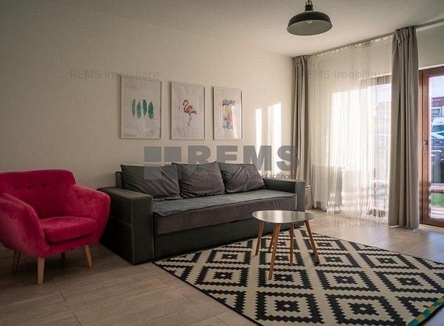 Apartament cu 2 camere decomandat in Buna Ziua, cu gradina - imaginea 1