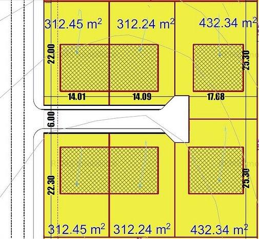 Teren de vanzare pentru constructia de case individuale si duplex - imaginea 1