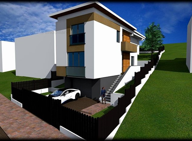 Teren cu proiect autorizat constructie casa individuala in Borhanci - imaginea 1