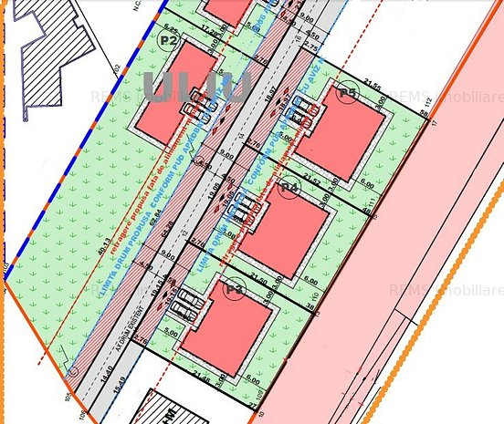 Teren cu PUZ in lucru pentru constructie casa individuala sau duplex - imaginea 1