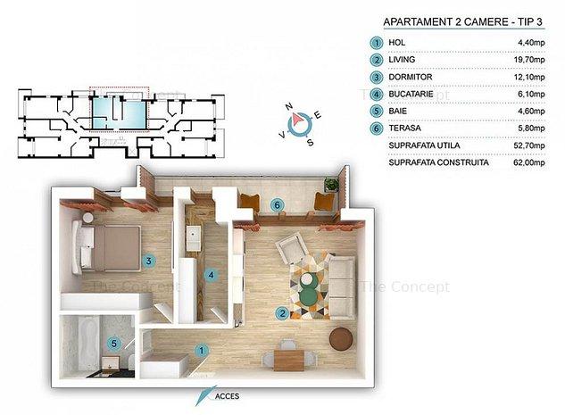 Apartament 2 camere Giulesti - imaginea 1