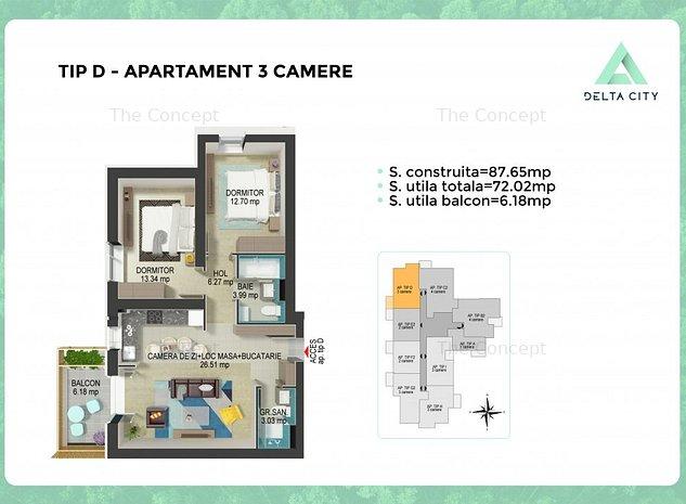 Apartament 3 camere Tip D Tineretului - Vacaresti *PROMO* - imaginea 1