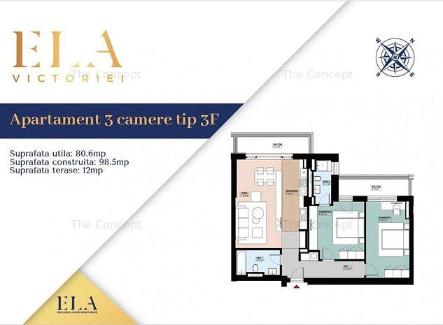 FINALIZAT | Apartament 3 camere Piata Victoriei - imaginea 1