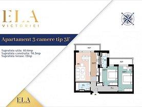 Apartament de vânzare 3 camere, în Bucureşti, zona Victoriei