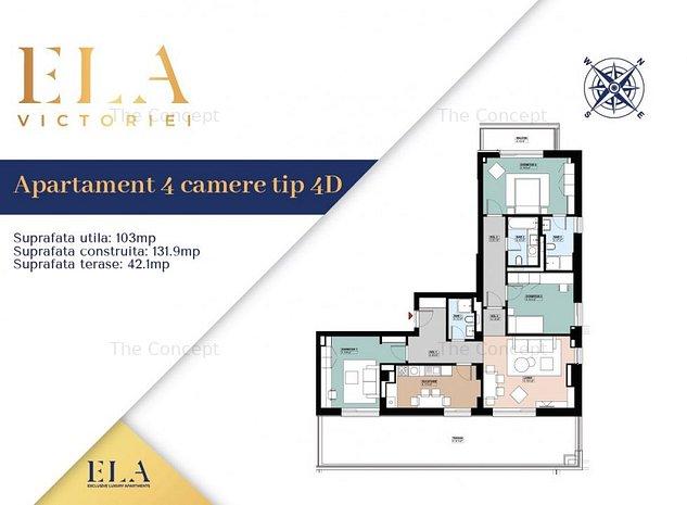 Penthouse 4 camere ELA VICTORIEI - ultima unitate - imaginea 1