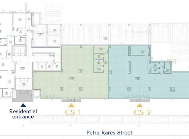 Spatiu comercial Parter Stradal in ansamblul rezidential ELA VICTORIEI - imaginea 1