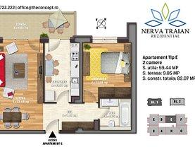 Apartament de vânzare 2 camere, în Bucuresti, zona Nerva Traian