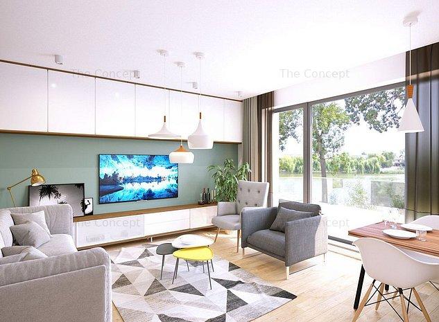 Apartament 3 camere cu gradina ELA Baneasa - imaginea 1