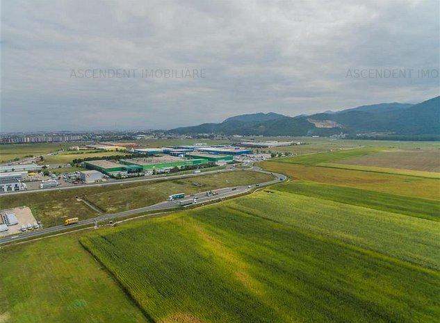 FILM PREZENTARE! 5.000 mp, zona aeroportului Brasov,segventa investitionala, la - imaginea 1