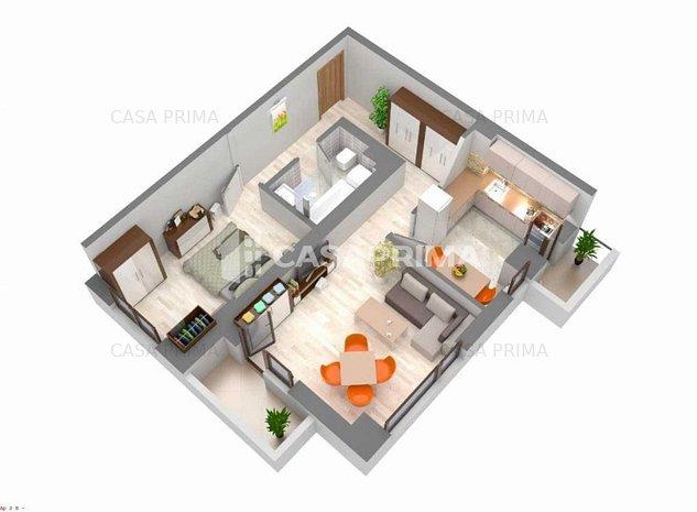 Apartament 2 camere, 61 mp, decomandat, Bloc NOU 2019 Spitalul de Recuperare - imaginea 1