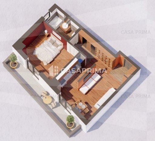 Bloc nou, Gara-Billa, comision 0%, apartament 2 camere, geam la baie - imaginea 1
