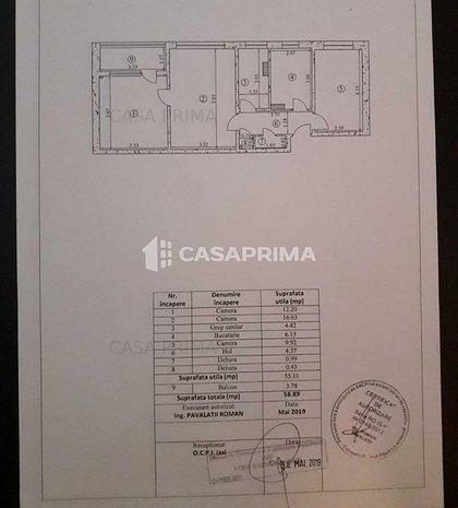 Apartament 3 camere, Podul Ros, etaj 2, geam la baie,merita vizionat! - imaginea 1