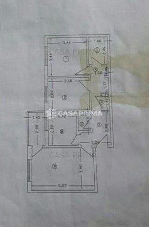 Apartament 3 camere Canta-Păcurari, etajul 2, geam la baie/70 mp!!  - imaginea 1