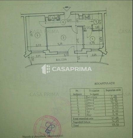Apartament 2 camere, mobilat si utilat, 65 mp , Zimbru - imaginea 1