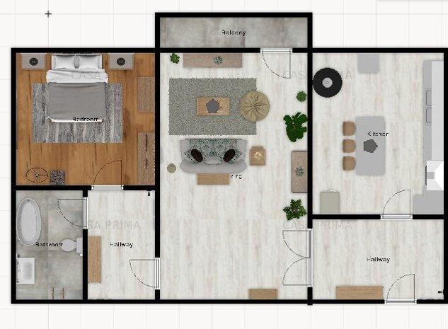Apartament 2 camere, SD, ETAJUL 2/4, Dacia-chioscul rosu - imaginea 1