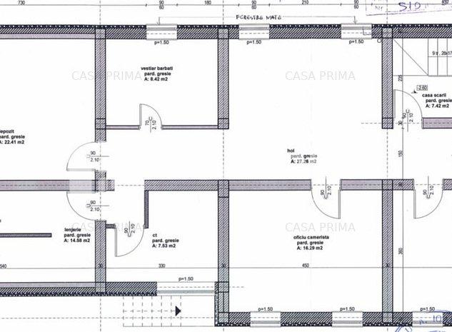 Spații de birouri-580 mp D+P+2E/ construcție 2014/zonă centrală!! - imaginea 1