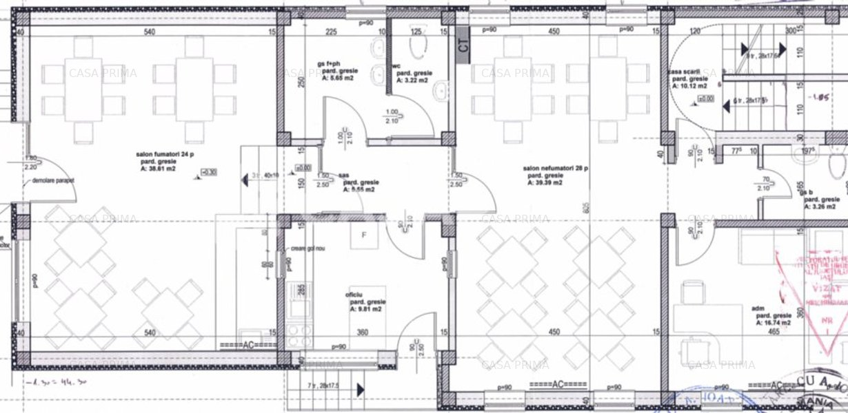 Spații de birouri-580 mp D+P+2E/ construcție 2014/zonă centrală!! - imaginea 2