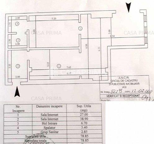Spațiu 80 mp/ zona Cotnari-Casa Sindicatelor, LIBER!! - imaginea 1