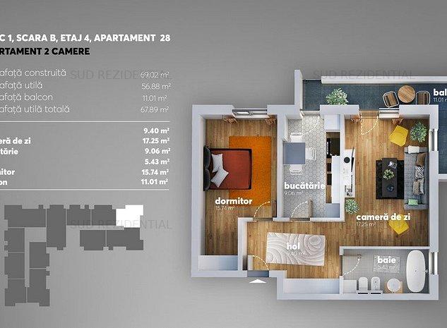 Apartament 2 cam Sector 4, Metalurgiei Park Disponibil Imediat !!! - imaginea 1