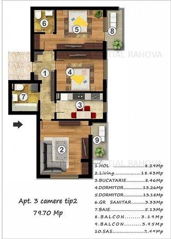 Rahova/Confort Urban-ap. 3 cam. nedecomandat finisat la cheie, 80 mp s.u. - imaginea 1