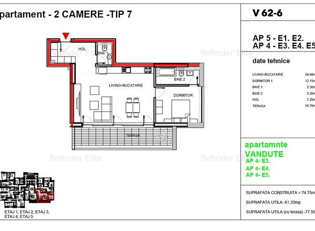 Vanzare apartament 2 camere Dacia - Romana, Bucuresti - imaginea 1