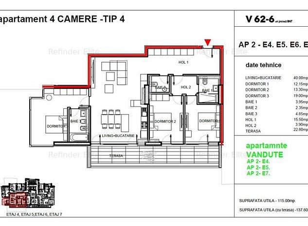 Vanzare apartament 4 camere Dacia - Romana, Bucuresti - imaginea 1