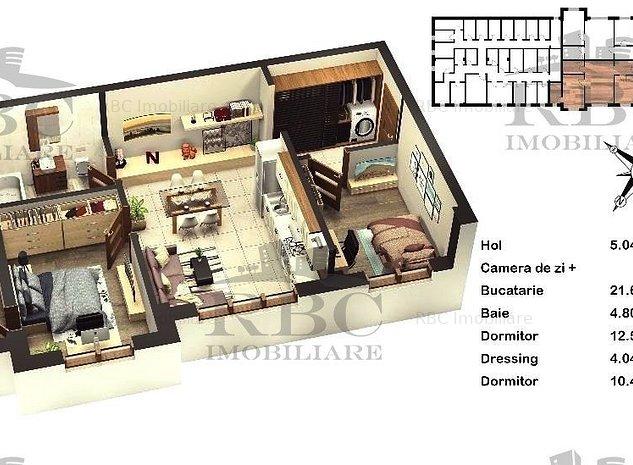 Apartament 3 camere Floresti - imaginea 1