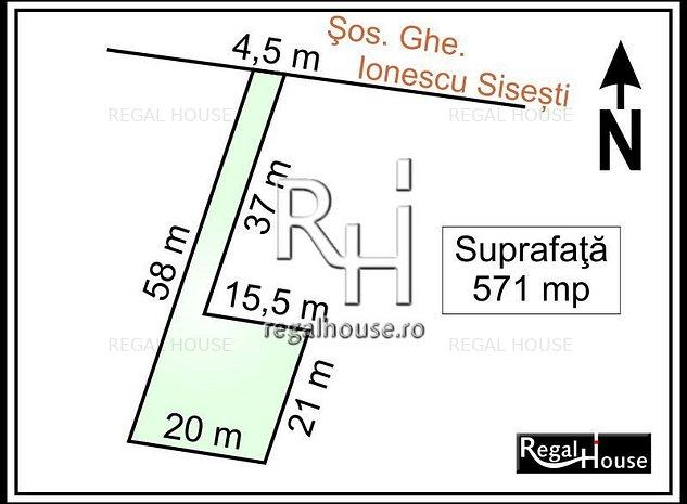 Baneasa - Sisesti stradal, teren 571 mp, PUD aprobat - imaginea 1