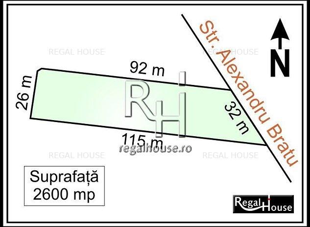 Sisesti - Str. Alexandru Bratu, teren 2600 mp, autorizatie de construire - imaginea 1