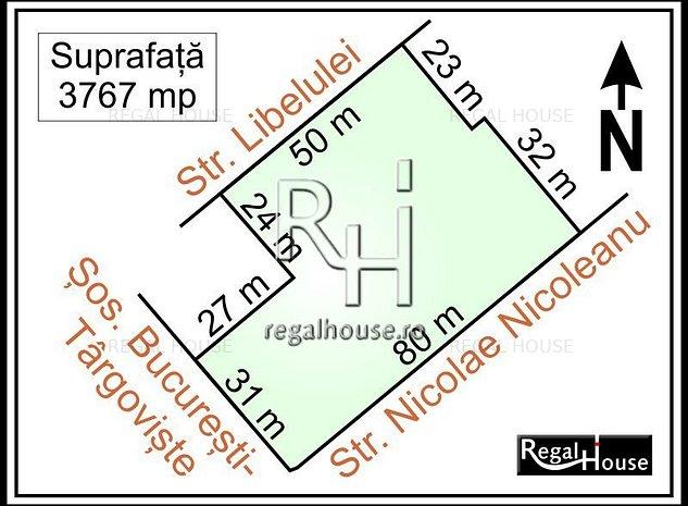 Sos. Bucuresti-Targoviste stradal, teren 3767 mp - imaginea 1