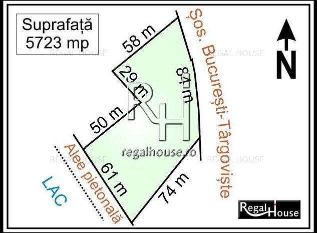 Straulesti - Doi Cocosi stradal, teren 5723 mp - imaginea 1