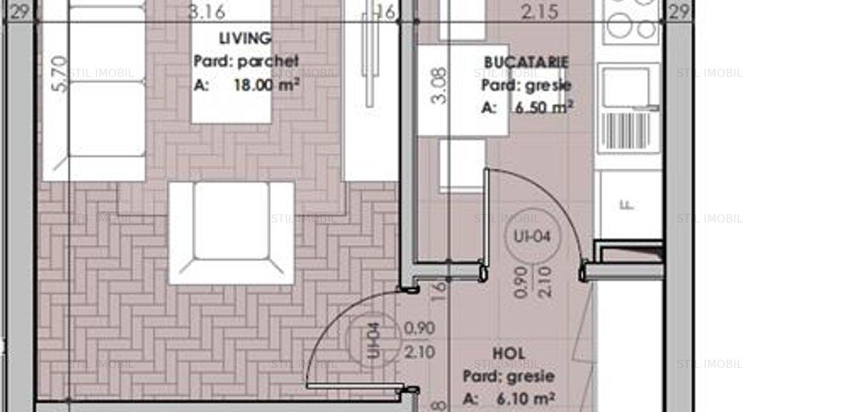 Apartament 1 camera 40mp - Copou, Sadoveanu - imaginea 3