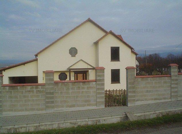 Vand casa(Vila)P+M la rosu cu teren si curte Zona Valea Cenchii-Teius. - imaginea 1