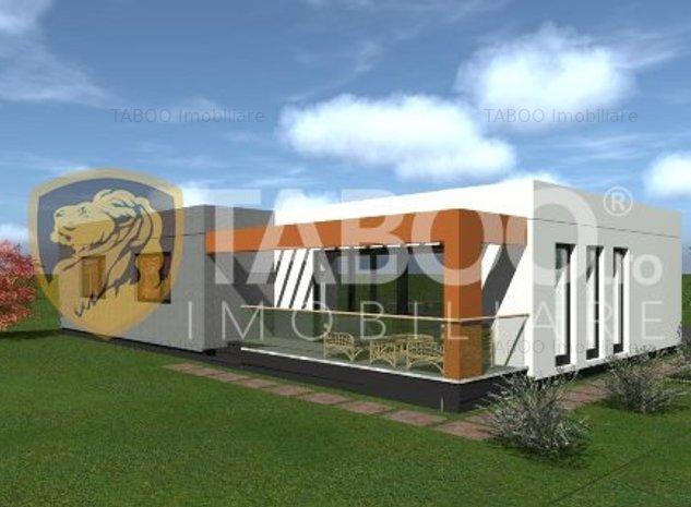 Casa moderna individuala 300 mp curte libera S+P in Viile Sibiului - imaginea 1