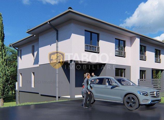 Duplex de vanzare 4 camere 150 mp utili si teren 215 mp in Cisnadie - imaginea 1