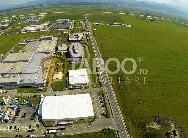 Teren intravilan 20.000 mp cu utilitati zona Industriala de Vest Sibiu - imaginea 1