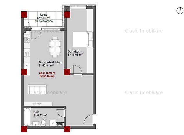 Vanzare apartament 2 camere 66 mp zona Piata Mihai Viteazul Centru - imaginea 1