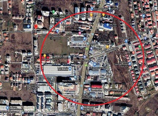 Vanzare teren 2500 mp locatie de exceptie zona OMV Calea Turzii Zorilor - imaginea 1
