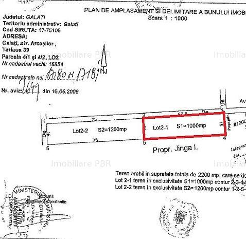 Teren intravilan 1000 mp - Strada Arcasilor, Galati - imaginea 1