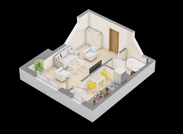 Apartament 1 camera 32 mp in Centru - imaginea 1