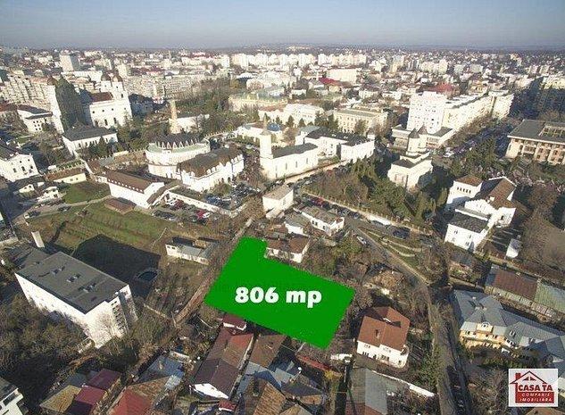 Teren 806 mp in Centru Iasului la 100 metri de bulevardul Stefan - imaginea 1