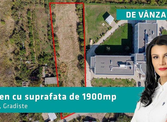 PRET REDUS cu 30 000 EURO-Teren cu suprafata de 1900 mp in Gradiste - imaginea 1