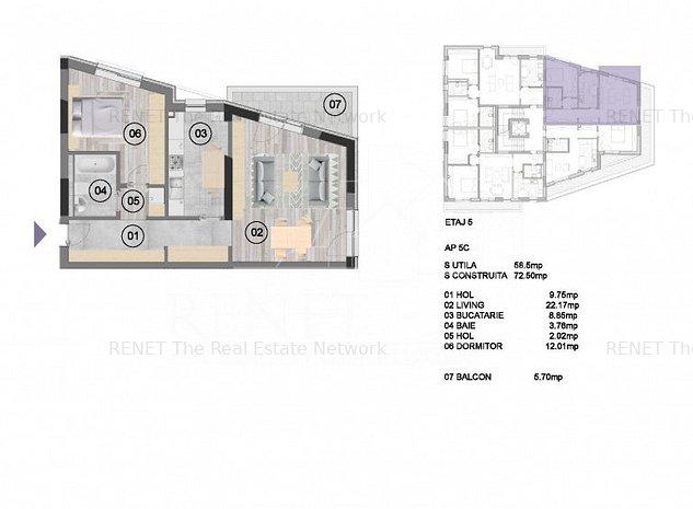 Apartament 2 camere decomandat NearCenter Residence Agricultori - imaginea 1