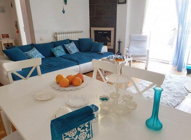Pipera: Apartament deosebit cu 3 camere, intr-un complex cu piscina - imaginea 1