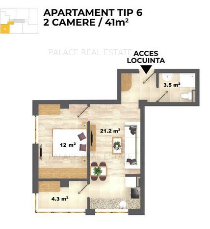 Ap 2 camere open space la 2 km de Selgros - imaginea 1