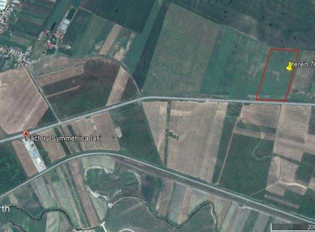 teren, 70.000 mp, pentru investitii intre Letcani si Podu Iloaiei - imaginea 1