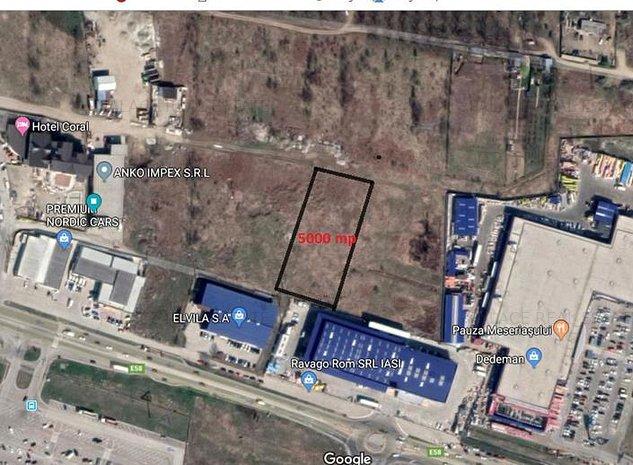 5000 mp pentru hala industriala, intravilan Miroslava , in spate la Elvila - imaginea 1