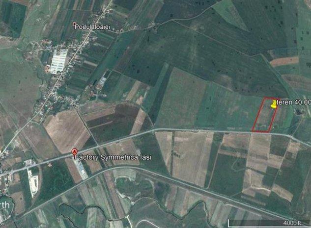 teren, 40.000 mp, E583,  intre Letcani si Podu Iloaiei - imaginea 1