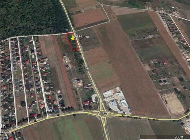 Teren 2636 mp ,intravilan Miroslava , cu iesire la soseaua de centura - imaginea 1